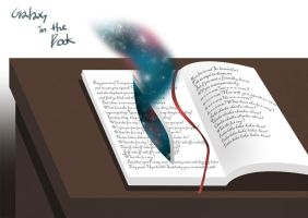 Galaxy in the Book by kakjelly