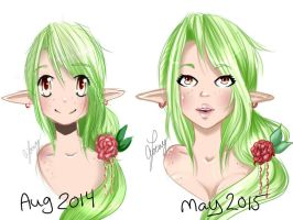 Redraw Comparisson by SweetNLoewy