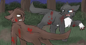 Minestar and Wolfstar by CascadingSerenity