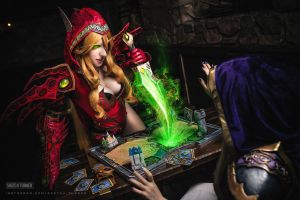 Heartstone: Valeera and Jaina by Shinkarchuk