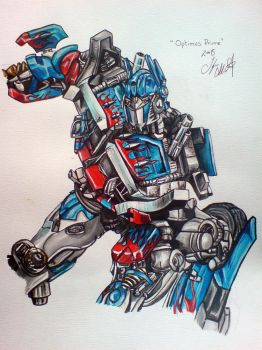 Optimus Prime by Tyleen