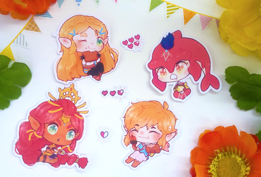 [M] UPDATE STORE OPEN / BOTW Stickers: Let's Eat! by Nachi-chi
