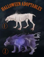 Halloween adoptables - BID by Seranalu
