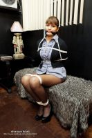 Angela tied up at office by DivaRope