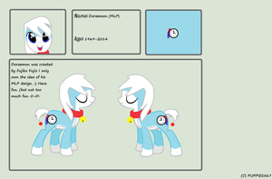 MLP Doraemon Reference Sheet by Puppies567