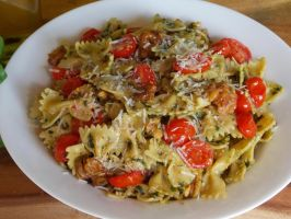 October Recipe Challenge: Bow Tie Pasta Pesto by LyssaAtMidnight