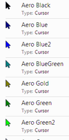Aero Cursors Colours by JordiArt