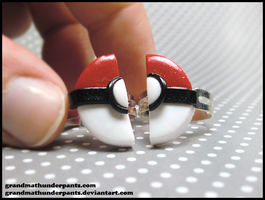 Pokeball BFF Ring Set by GrandmaThunderpants
