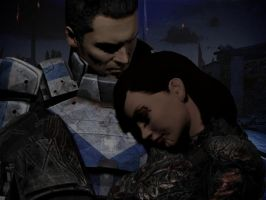 Mass Effect - Kaidan rescues Shepard by lealea25