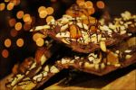 Dark Chocolate Bark with Apricots and Almonds by asainemuri
