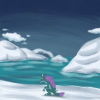 Ondjage in the artic by megadrivesonic