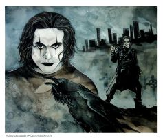The Crow - Skyline by Hollow-Moon-Art