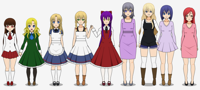 RPG Maker-Girls 1 by TheRainbowCupcake