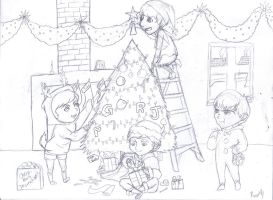 Beatles Christmas -no color by greengal14