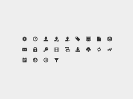 14px Pictogram Icons by Ashung