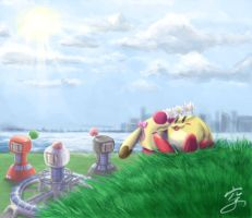 Hanging Out - Pommy by Sora-G-Silverwind