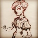Steampunk girl by Pencilbags