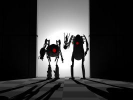 Portal 2 Robots by spacepig22