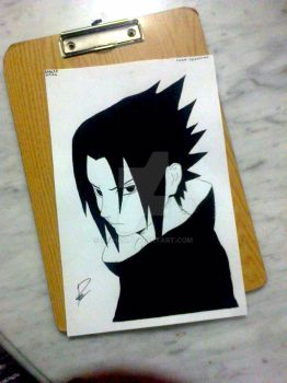 Drawing sasuke by Raih4n