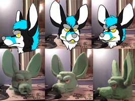 quick Fursuit head Pattern by toxicfox100