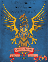 Golden Eagles Space Marines Emblem by Valanyonnen