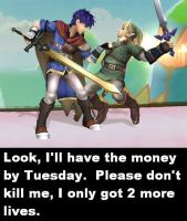 never owe Ike $ by HaloHappy