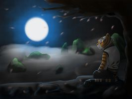 Lonesome Tigress (painted) by NeoMakusha