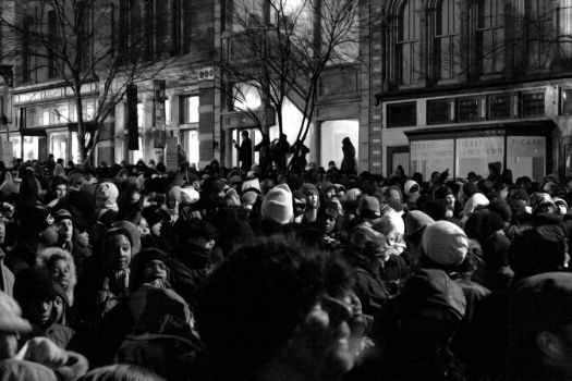 Obama Inauguration Day Crowd by Photographiq