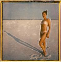 'Nancy Nude with Plovers' by PolaroidVanGogh