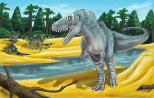 Daspletosaurus and Parasaurs by Blairaptor