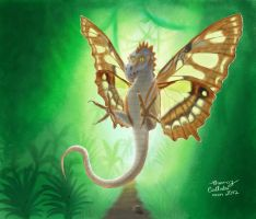 Malachite-Wing Dragon by thomazcallado