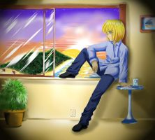 Kurapika In Hawaii? XD by Yuri-Nikko