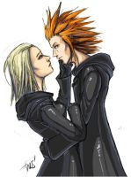 Axel and Larxene Paintchat by oneoftwo