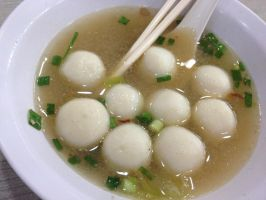 Chinese Fishball Soup by nosugarjustanger