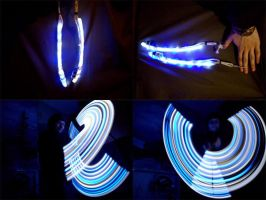 Blue and White Snake Poi by AxnoR