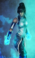 Korra - Blue Fire by schitzone