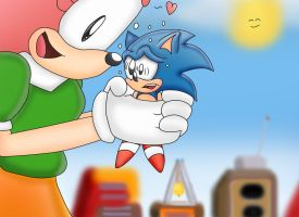 Sonic's Biggest Fan by ClassicSonicSatAm