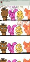 Ask five nights at cuties [3] by Cookie-fish