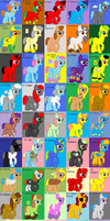 Unsold 100 theme adopts- cheap by Strawberry-T-Pony