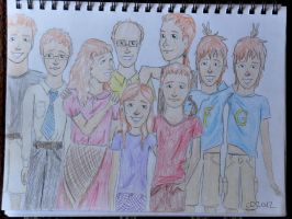 Weasleys in Egypt (colour) by charleypotter
