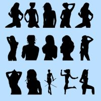 Female silhouette brushes by IceXsainT