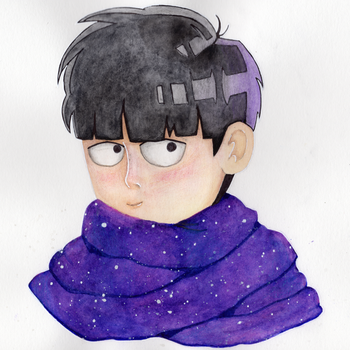 Mob Wearing A Scarf by KuroSuitopi