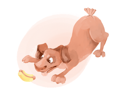 Weekly Painting 2: Weiner dog by shantais