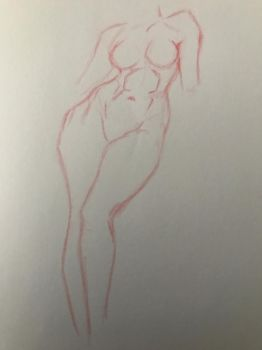 female figure sketch by batscat