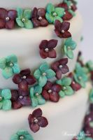 Hydrangea Tiered Cake by Hannah-Victoria