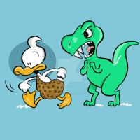 Dino Duck by JamieCosley