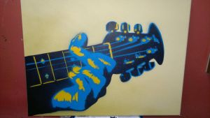 guitar hands by GreenaGene