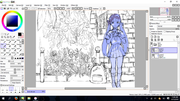 more flowers wip by YumeOnii