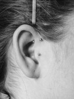 tragus and forward helix by RaGuonna