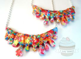 Candy blood necklace by ilikeshiniesfakery
